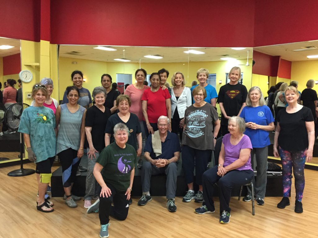 A recent class at Just Fitness 4U